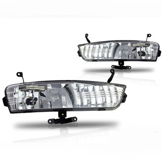 2007-2011 Hyundai Accent  Replacement Fog Lights - Clear (Wiring Kit Included)