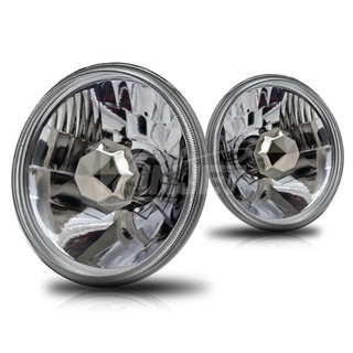 """5"""" Round Conversion Head Lights - Clear"""