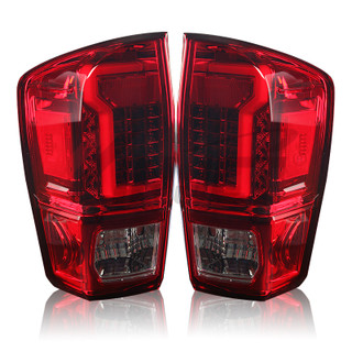 2016-2019 Toyota Tacoma LED Tail Light - Red/Clear