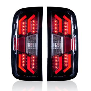 2014-2017 Chevrolet Silverado Tail Lights - Black / Clear