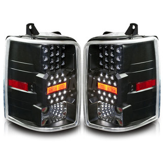 1993-1996 Jeep Grand Cherokee LED Tail Light - Black/Clear