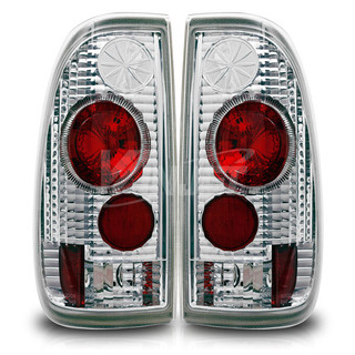 1999-2007 Ford F-350 Altezza Tail Light (With Halo) - Chrome/Clear