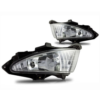 2007-2010 Hyundai Elantra Fog Lights Wiring Kit Included - Clear (excludes Touring Wagon)