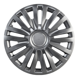 15 inch Universal Silver Lacquer Wheel Cover Set of 4 4
