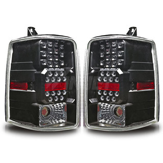 1997-1998 Jeep Grand Cherokee LED Tail Light - Black/Clear