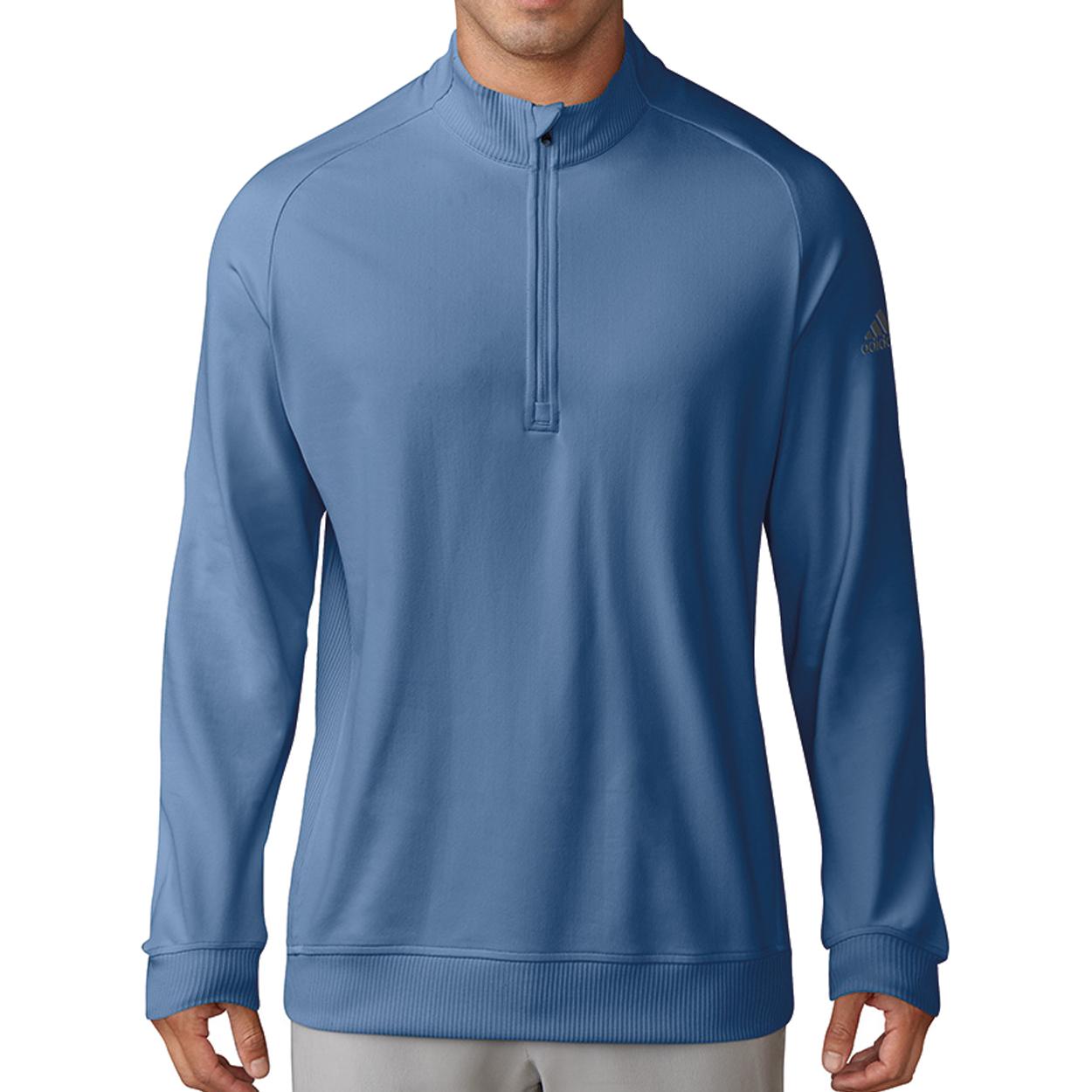 df2a086026ba58 Adidas Classic Club 1 2-Zip Pullover - GolfEtail.com