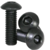 10mm M3 Steel Button Head Screw Black Anodized (10 pieces)