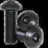 12mm M3 Steel Button Head Screw Black Anodized (10 pieces)