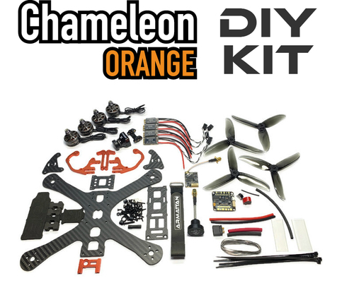 Chameleon 5 Orange with Underdog motors-DIY Kit