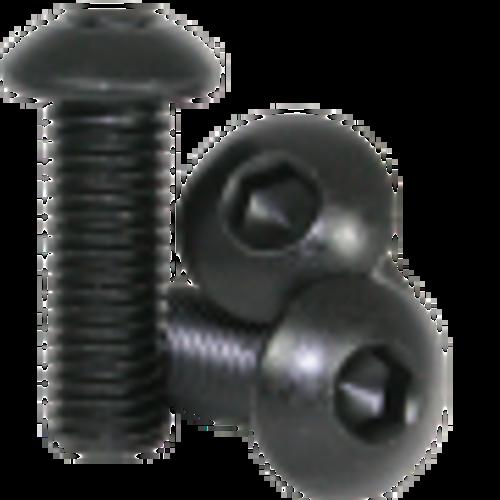 8mm M3 Steel Button Head Screw Black Anodized (10 pieces)