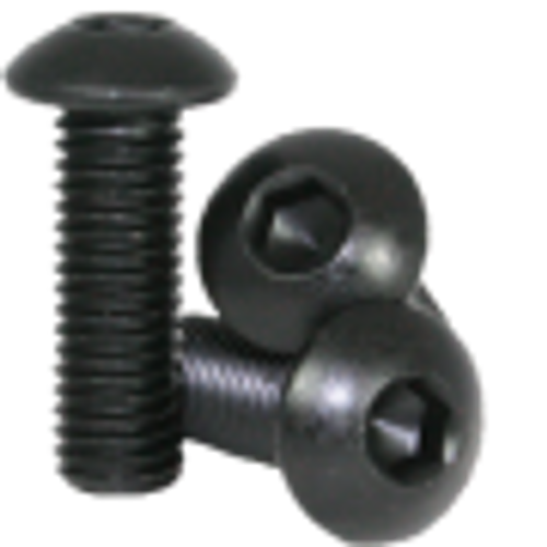 8mm M3 Steel Button Head Screw Black Anodized (10 pieces)