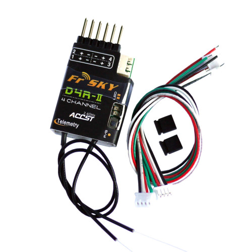 FrSky D4R-II 4ch 2.4Ghz ACCST Receiver (w/telemetry) *Out of stock
