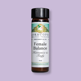 luxuriously floral aroma of Female Balance promotes balance, vitality and radiance, supporting women during their moon cycle
