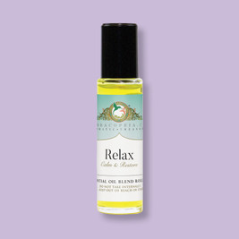 Relaxing roll on floral aromatic essential oil blend
