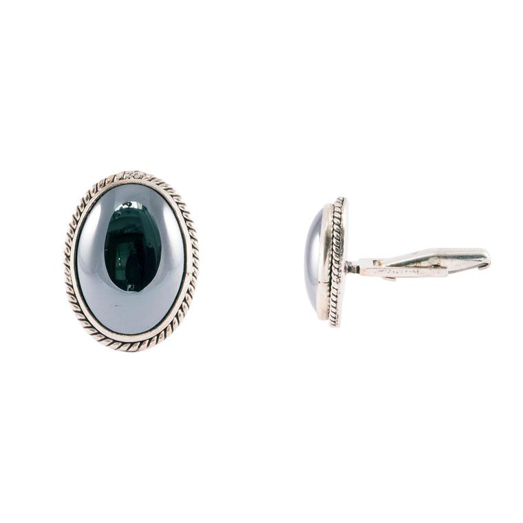 925 Sterling Silver / Hematite