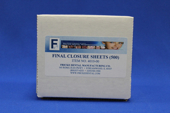 Final Closure Sheet