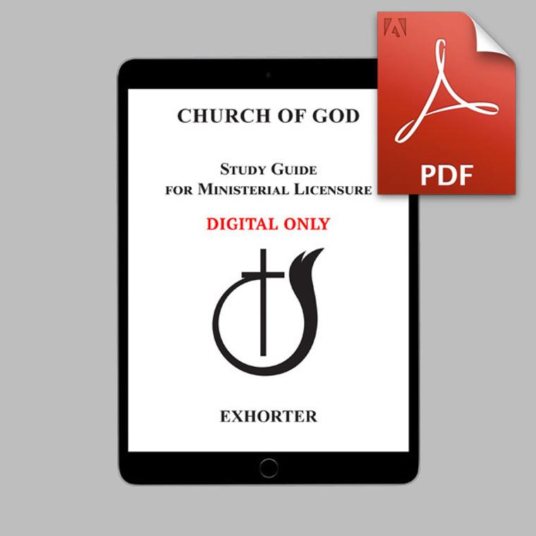 Exhorter (2019) DIGITAL Study Guide (PDF)
