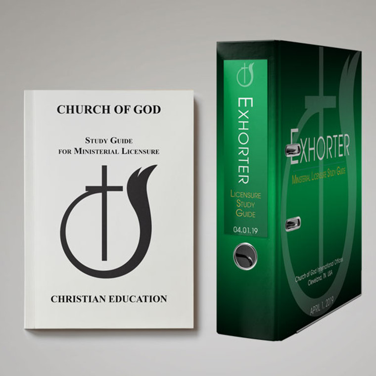 Exhorter with Christian Education PRINTED Study Guide
