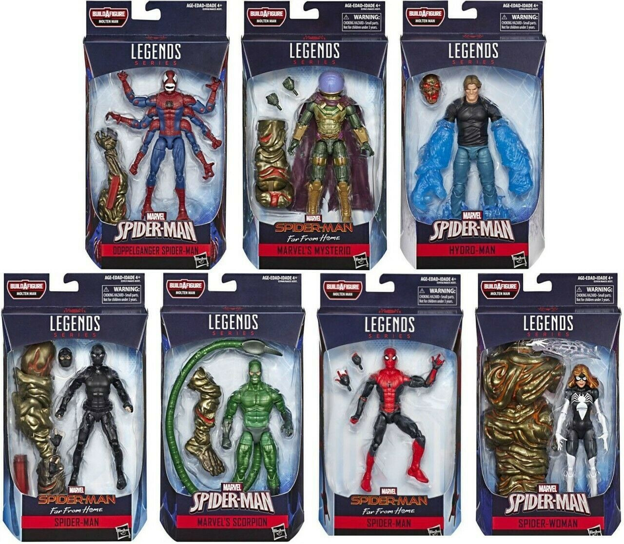 Marvel Legends Spiderman Far From Home Collection