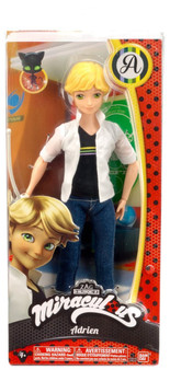 10.5-inch Miraculous Fashion Doll Adrien Miraculous fashion doll Adrien allows girls to recreate their favorite Adrien scenes He is 10.5 inches tall and wears his signature look He comes with fencing equipment for even more Adrien play Miraculous Fashion Doll Adrien is for ages 4+