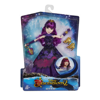 Disney Descendants Royal Yacht Ball Mal Isle of the Lost, C1789 inspired by mal in descendants 2. • imagine getting her ready for the royal yacht ball. • look for other disney descendants dolls (each sold separately). Includes doll, outfit, tiara, collar, bracelet, purse, pair of earrings, and pair of shoes.