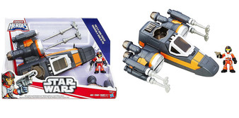 Young Jedi can bring a galaxy far, far away right into their world with the Star Wars Galactic Heroes figures and vehicles Poe Dameron figure fits inside vehicle 2 projectile launchers. Push top of vehicle to open wings Sized right for small hands This Poe's X Wing Fighter is suitable for ages 3 years and over