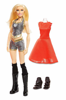It's double the action and fashion with WWE Superstars Fashion Dolls who are fearlessly fashionable inside and outside of the ring! These approximately 12-inch WWE Superstars fashion dolls feature multiple points of articulation and amazing details! Each WWE Superstars comes with two fashions and two pairs of shoes The first fashion is inspired by their look in the ring and the second fashion is inspired by WWE Superstars signature style outside of the ring Plus, these incredible dolls can also stand alone with their shoes on—perfect for recreating WWE Superstars action-fashion poses!