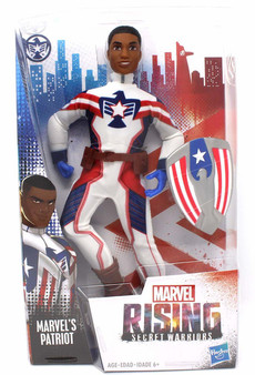 Marvel's Patriot In Super Hero Outfit with Shield Accessory Inspired by Marvel Rising Secret Warriors 11 Inch Scale Poseable With Multiple Points of Articulation