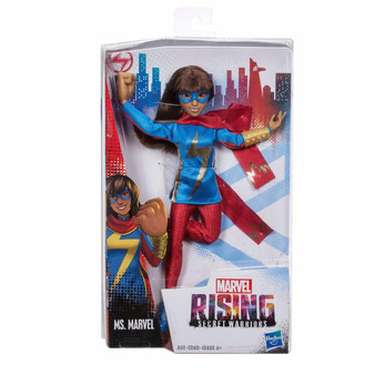Ms. Marvel doll inspired by Marvel Rising Secret Warriors Includes clip-on accessory and super hero outfit Poseable doll with multiple points of articulation Includes soft goods and rooted hair