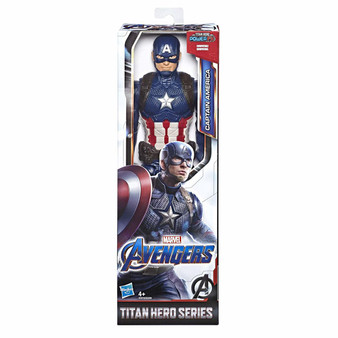 Connect Titan Hero Power Fx Launcher (not included) for Sounds and Phrases: Connect the Titan Hero Power FX Launcher (not included) to the action figure's arm port to activate Sounds and Phrases inspired by the Marvel movie and fire projectiles Marvel Movie-Inspired Design: Fans can imagine the action-packed scenes of the Marvel universe with this Captain America figure, inspired by the Avengers: Endgame movie Compatible With Titan Hero Power Fx Launcher (not included) - Connect to Titan Hero Series and Titan Hero Power FX figures (each sold separately) for sounds and phrases from the Avengers movies Look for Other Marvel Avengers Toys: Be on the lookout for other Marvel Avenger figures and gear to imagine forming a team of Avengers; additional products each sold separately; subject to availability