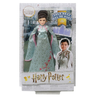 "Fans and collectors will love recreating their favourite scenes from Harry Potter and the Goblet of Fire with Harry Potter Cho Chang Yule Ball doll ​Cho Chang doll wears her unforgettable Yule Ball look, featuring a seafoam-green gown with pink trim and elegant floral details ​This collectible doll has ""joints"", making her posable and adventure-ready!  ​True-to-movie details and a Yule Ball invitation accessory add to the storytelling fun Kids can collect Harry Potter, Ron Weasley and Hermione Granger Yule Ball dolls for more storytelling fun. Each sold separately, subject to availability"