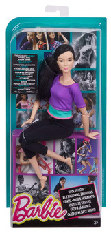 "With Barbie Made to Move doll, you can do anything! Capture the action with the ability to move and pose in ways -- guided by you -- that mimic realistic action -- from riding a bicycle and playing a guitar to doing gymnastic bends and sitting cross-legged to owning a runway or taking selfies! Barbie Made to Move dolls have 22 ""joints"" -- in the neck, upper arms, elbows, wrists, torso, hips, upper legs, knees AND ankles -- for an incredible range of motion! Sleek modern fashions are perfect for on-the-move fun."
