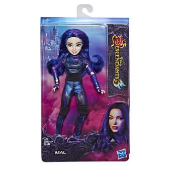 MAL FROM DISNEY'S DESCENDANTS 3: Mal will do what she has to in order to protect her friends and Auradon FASHION DOLL WITH ACCESSORIES: This Mal figure includes doll, outfit, gloves, ring, and shoes for fashion play fun DISNEY'S DESCENDANTS 3 MOVIE: This Disney toy is inspired by Mal from Disney's Descendants 3 movie TOY FOR 6 YEAR OLDS AND UP: This Descendants doll is an amazing birthday gift or holiday present for kids
