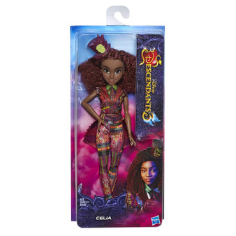 CELIA FROM DISNEY'S DESCENDANTS 3: In Disney's Descendants 3, Celia knows that the cards are always right…it's good to be bad! FASHION DOLL WITH ACCESSORIES: Celia doll includes outfit, hat, and shoes for fashion play fun DISNEY'S DESCENDANTS 3 MOVIE: This Disney toy is inspired by Celia from Disney's Descendants 3 movie TOY FOR 6 YEAR OLDS AND UP: This Descendants fashion doll is an amazing birthday gift or holiday present for kids