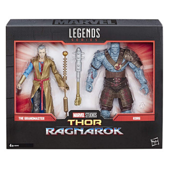 Marvel Legends series 6-inch action figures: celebrate the Marvel Cinematic universe with this Grandmaster and Korg (for the first time in the Marvel Legends series) 6-inch-scale action figure 2-Pack. Marvel movie-inspired design: with premium deco inspired by the Thor: Ragnarok film, these Grandmaster and Korg figures make a great gift for fans of Marvel entertainment. Premium pose ability and detail: these highly articulated Marvel Legends series figures feature intricate character detailing, making them excellent for both play and display. Includes accessories: both the Grandmaster and Korg figures come with character specific accessories, allowing fans to create Dynamic poses and memorable scenes from the Marvel Cinematic universe. Look for other Marvel Legends series items: fans can look for many more Marvel Cinematic and comic inspired action figures from the Marvel Legends series! (Sold separately. Subject to availability.)