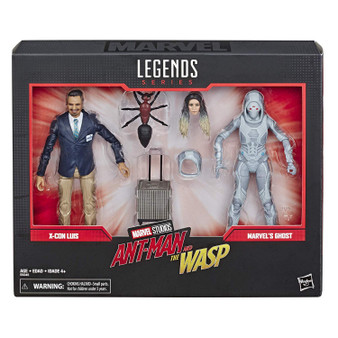 Marvel Legends Sereis 6-inch action figures: celebrate the Marvel Cinematic universe with this x-con Luis and Marvel Ghost 6-inch-scale action figure 2-Pack from the Marvel Legends series. Marvel movie-inspired design: with premium deco inspired by the Ant-Man and the Wasp film where x-con Luis and Marvel Ghost are locked in an epic struggle, these figures make a great gift for fans of Marvel entertainment. Premium pose ability and detail: these highly articulated Marvel Legends series figures feature intricate character detailing, making them excellent for both play and display. Includes 4 accessories: both the x-con Luis and Marvel Ghost figures come with 2 alternate hands, allowing fans to create Dynamic poses and memorable scenes from the Marvel Cinematic universe. Look for other Marvel Legends series items: fans can look for many more Marvel Cinematic and comic inspired action figures from the Marvel Legends series! (Sold separately. Subject to availability.)
