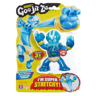 The Heroes of Goo Jit Zu are the Squishiest, stretchiest and gooiest action figures ever! Use their goo power to defeat evil and save the day! There are 13 goo jit zu heroes to collect in the hero packs. Every character has a unique goo filling with a different texture and feel. Hydro the Octopus is Super stretchy and gooey. See how far you can stretch him and then he returns to his original form. Heroes of Goo Jit Zu provides kids with a new gooey way to play with action figures, with no mess! You can stretch and squish your goo jit zu heroes and they will always come back to their original shape! Check out the Heroes of Goo Jit Zu cartoon on YouTube