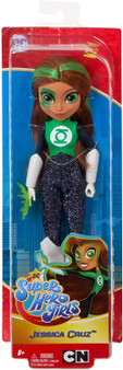 Unleash your inner hero with these DC Super Hero Girls action dolls! This Green Lantern doll (approx. 10.5 in.) comes in her iconic Super Hero outfit with removable accessories. Green Lantern doll makes a fashion statement as bold and powerful as she is with her removable sleek knee-high boots, shimmery suit, and power ring.  Featuring a strong build, she can stand alone for powerful posing and action-packed play.  Righteous, bright, and strong-willed – Green Lantern inspires kids to be true to themselves and discover their own unique super strengths. Collect them all!  For ages 6 and up. 