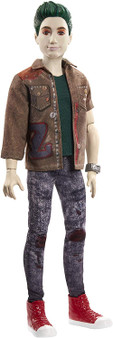 "Stand up for the zombies with this Zed doll (~12-in) from Disney's Zombies 2! With his green hair, undead look, and grungy style he's made to look just like his character in the movie. Zed doll comes dressed in a removable jean jacket, t-shirt, faded jeans, sneakers, and iconic z-band bracelet. He can stand alone and has 13 bendable ""joints."" Bust a freaky zombie move or strike a pose! Play out favorite movie moments with Zed doll and other characters like Addison, Eliza, Willa, and Wynter."