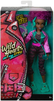 Join the Wild Hearts Crew -a sisterhood of girls following their wildest hearts' desire Cori Cruize is a musician and is always composing, mixing, or playing her songs She comes wearing cool pieces like a rad jumpsuit, shiny varsity jacket, and strappy sandals Includes 12-inch doll wearing fashions and accessories Ages 6+