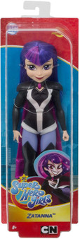 ​Unleash your inner hero with these DC Super Hero Girls action dolls!​ ​This Zatanna doll (approx. 10.5 in.) comes in her iconic Super Hero outfit with removable accessories.​ ​Zatanna doll makes a fashion statement as bold and powerful as she is with her shimmery pink cape and sleek, knee-high boots. ​ ​Featuring a strong build, she is ready for powerful posing and action-packed play.​ ​Magical, charming, and confident -- Zatanna inspires kids to be true to themselves and discover their own super strengths. Collect them all! ​ ​For ages 6 and up. ​