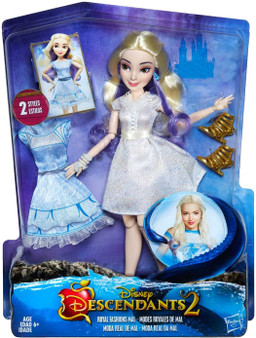High fashion Mal figure for Disney Descendants fans Inspired by Mal from Disney Descendants 2. Includes doll, 2 outfits, necklace, bracelet, pair of earrings, and 2 pairs of shoes. Multiple points of articulation