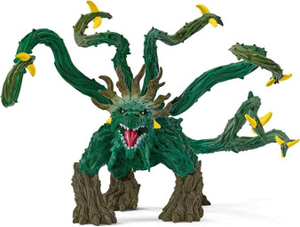 Schleich Eldrador Creatures jungle monster is a real battle coloss: it has not only movable liane arms, but also a rotating, thorn-studded tail. With so many weapons on the body, it is no wonder that it can capture the powerful and unpredictable jungle monster with multiple attackers at the same time. If you don't care, the lians of the jungle monsters get tangled in battle. With movable lians! With rotating tail!