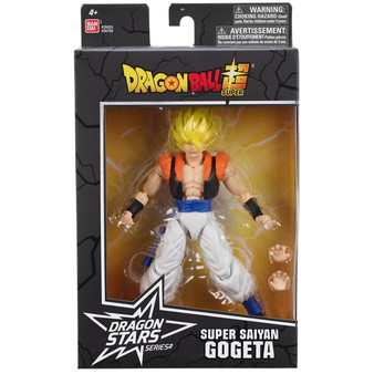 Contents: A Saiyan Gogeta Figure and accessories Detailed styling Highly poseable Comes with extra set of hands Premium collector packaging