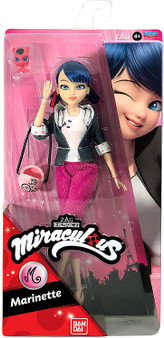 This super poseable Marinette Fashion Doll has 13 points of articulation to hit any action pose while saving Paris! The Marinette Fashion Doll stands 26cm tall and comes equipped with her signature crossbody bag, her sidekick Kwami and some cute accessories, just like in the show. Her fashion-forward style has all the deluxe details that mean so much to her fans. Collect all your favourite characters from the TV show! This Fashion Dolls is compatible with the Miraculous 2-in-1 Balcony Bedroom playset.