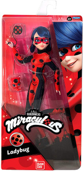 This super poseable Ladybug Fashion Doll has 13 points of articulation to hit any action pose while saving Paris! The Ladybug Fashion Doll stands 26cm tall and comes equipped with her signature Yoyo weapon, her sidekick Kwami and some cute accessories, just like in the show. Her fashion-forward style has all the deluxe details that mean so much to her fans. Collect all your favourite characters from the TV show! This Fashion Dolls is compatible with the Miraculous 2-in-1 Balcony Bedroom playset.