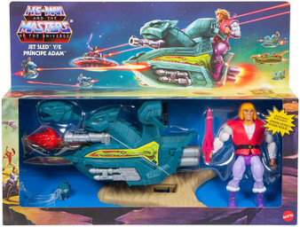Universe Masters are back for the next generation of fans! Join the battle and help He-Man save the universe of evil SkeletorTM. Skysled origins is a transformable battle vehicle that can be customized to fight for good (tap) or evil (snake) by changing bushes and logos. Fans will love this modular skysled that pays tribute to the traditional style of Masters of the Universe by bringing a modern touch with the new design details. Includes an exclusive Prince AdamTM figure not available anywhere else. A perfect gift for collectors and children aged 6 and up.