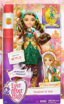 The Ever After Rebels have chosen to rewrite their destinies -- and with their own style! New student Jillian Beanstalk, daughter of Jack from Jack and the Beanstalk, joins the Rebels in creating her own future She wears her signature iconic fashion that fans of the series will recognize from the webisodes Details are exquisite with trendy clothing, amazing shoes and fabulous accessories An enclosed storybook provides biographic details on the fairytale student!