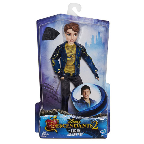inspired by ben in descendants 2. • figure features his isle style from the movie. • look for other disney descendants dolls (each sold separately). Includes figure, outfit, belt, hat, and pair of shoes.