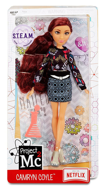 """Project Mc2 545057E4C Core Doll- Camryn Coyle Construction queen, Camryn Coyle Articulated doll (hip-shoulder-neck) features saran hair, glass eyes, eyelashes and on-trend """"geek chic"""" fashion Each includes a beaker-shaped comb for hair play Suitable from Age 6"""